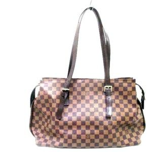 Auth Louis Vuitton Chelsea Damier Ebene #876L37
